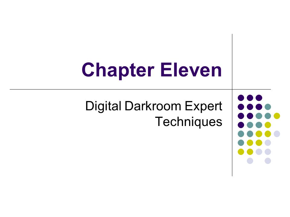 Chapter Eleven Digital Darkroom Expert Techniques