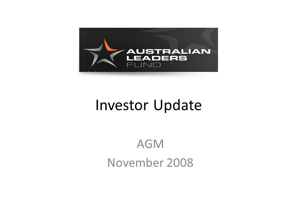 Investor Update AGM November 2008