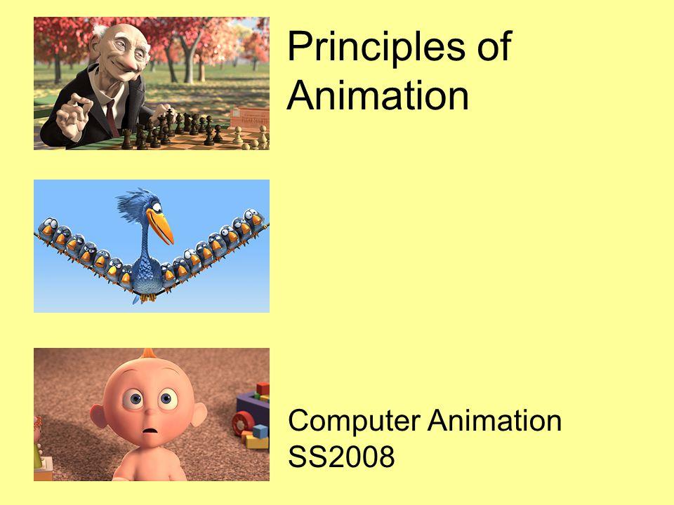 Principles of Animation Computer Animation SS2008