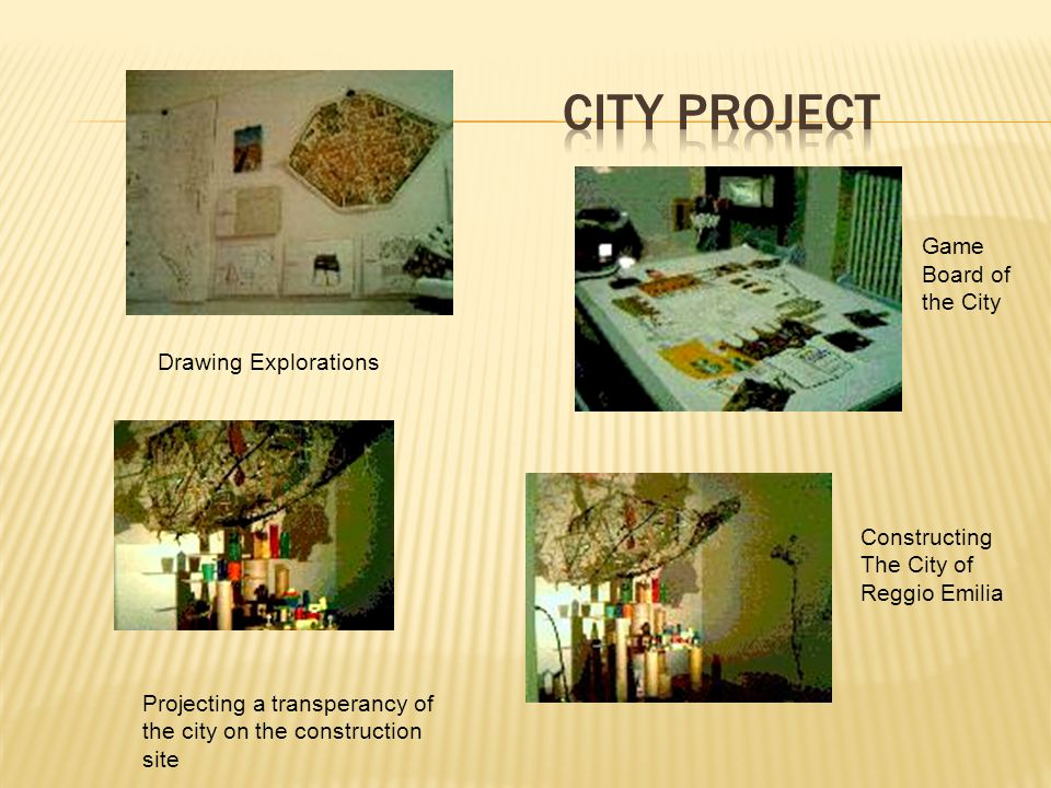 Drawing Explorations Game Board of the City Constructing The City of Reggio Emilia Projecting a transperancy of the city on the construction site