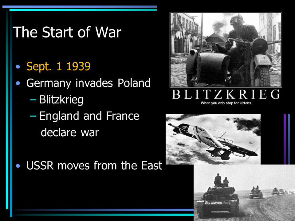 The Start of War Sept.