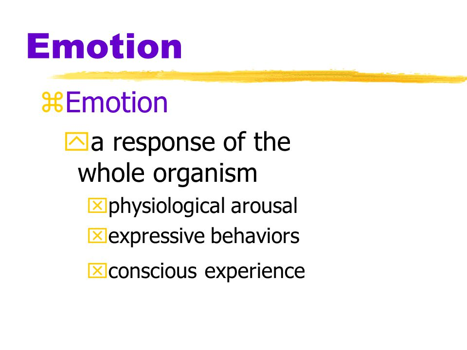 Myers' PSYCHOLOGY (6th Ed) ‏ Chapter 13 Emotion James A.