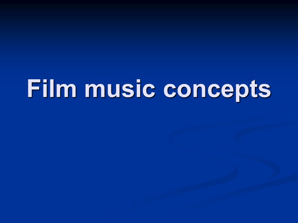 Film music concepts