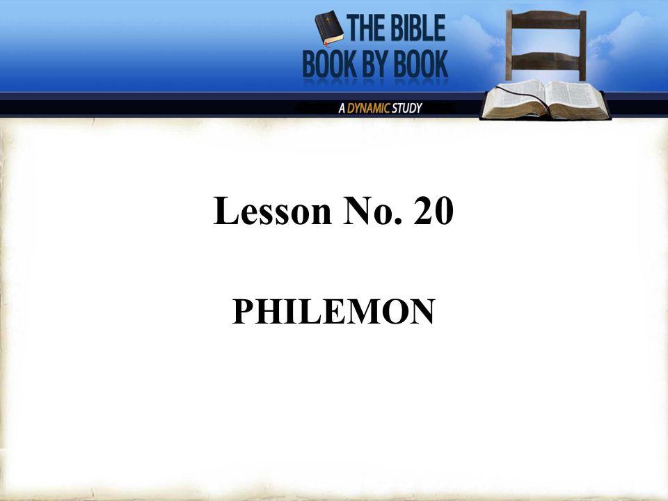 Lesson No. 20 PHILEMON