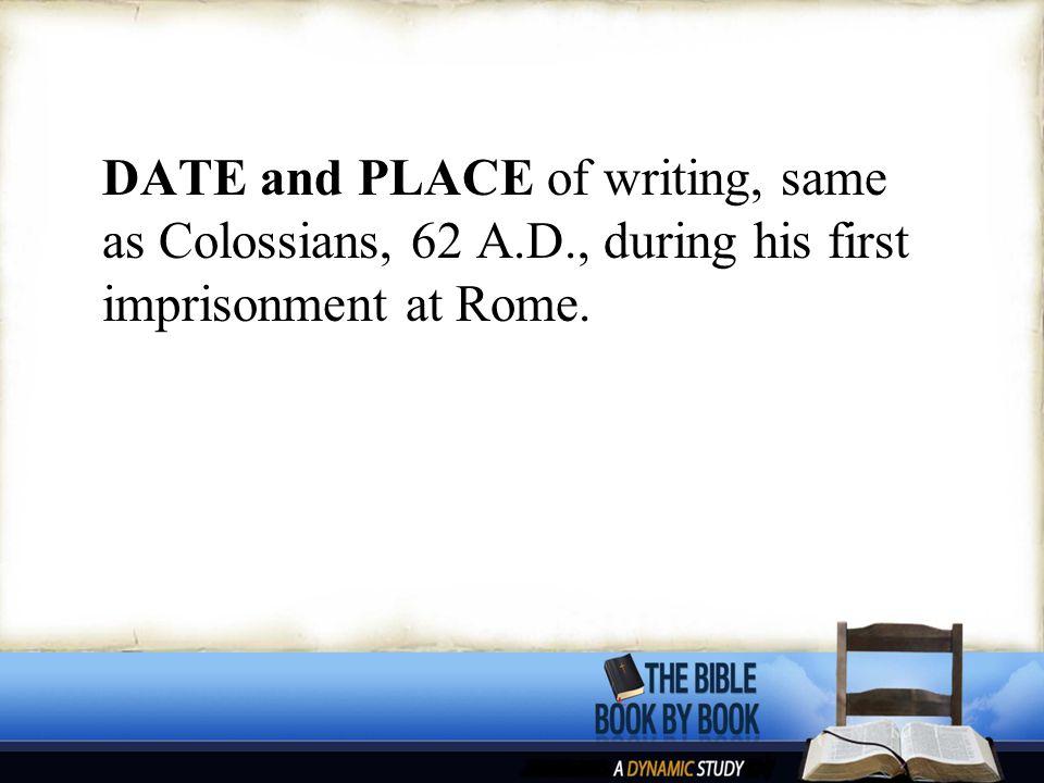 TO WHOM written—Philemon.