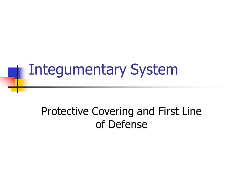 Integumentary System Protective Covering and First Line of Defense