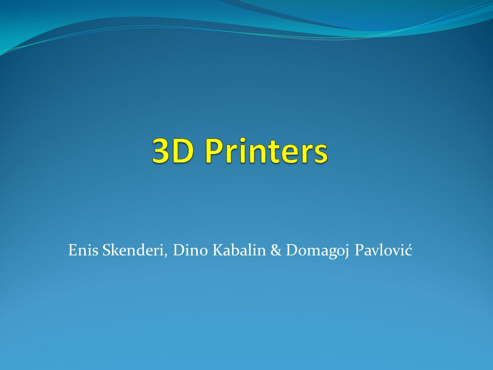 Printers  Printers for domestic use There are several projects and companies making efforts to develop affordable 3D printers for home desktop use.