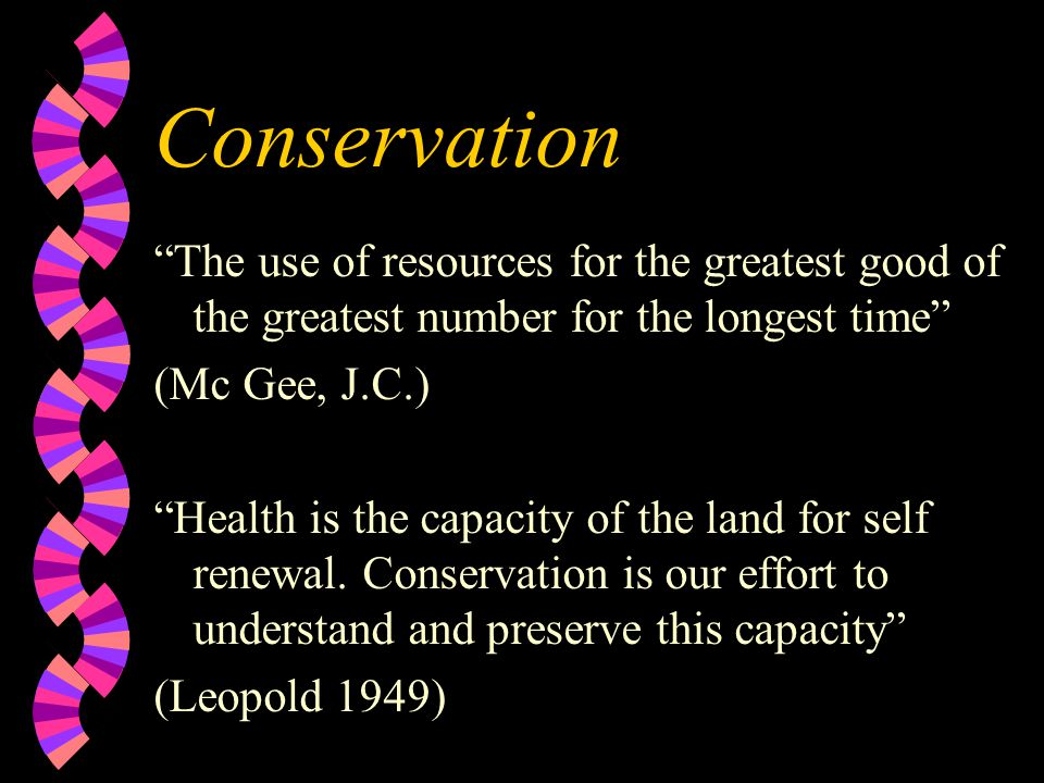 Objectives By the end of the lessson we will: w Understand points of information on directives and strategies for conservation management w Be able to apply knowledge to a given area/problem w Understand definitions of preservation and Conservation, SSSI's and NNR design