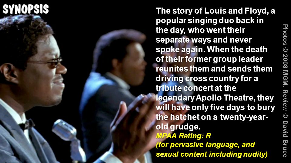 The story of Louis and Floyd, a popular singing duo back in the day, who went their separate ways and never spoke again.