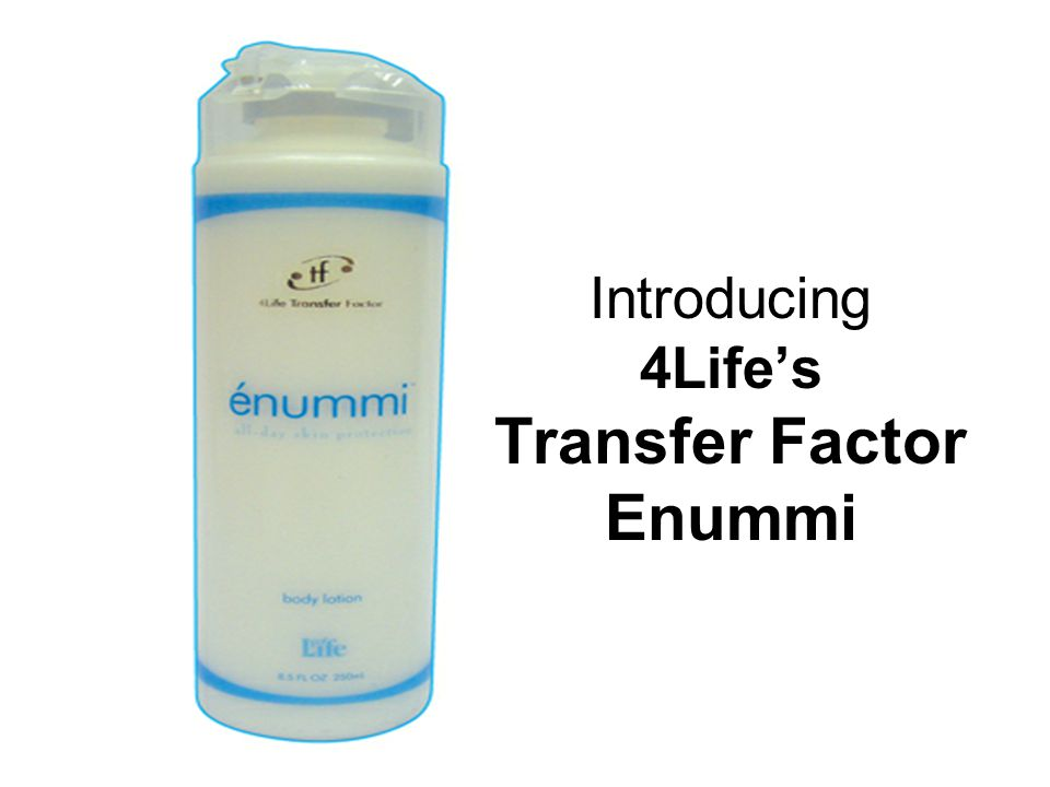 Introducing 4Life's Transfer Factor Enummi