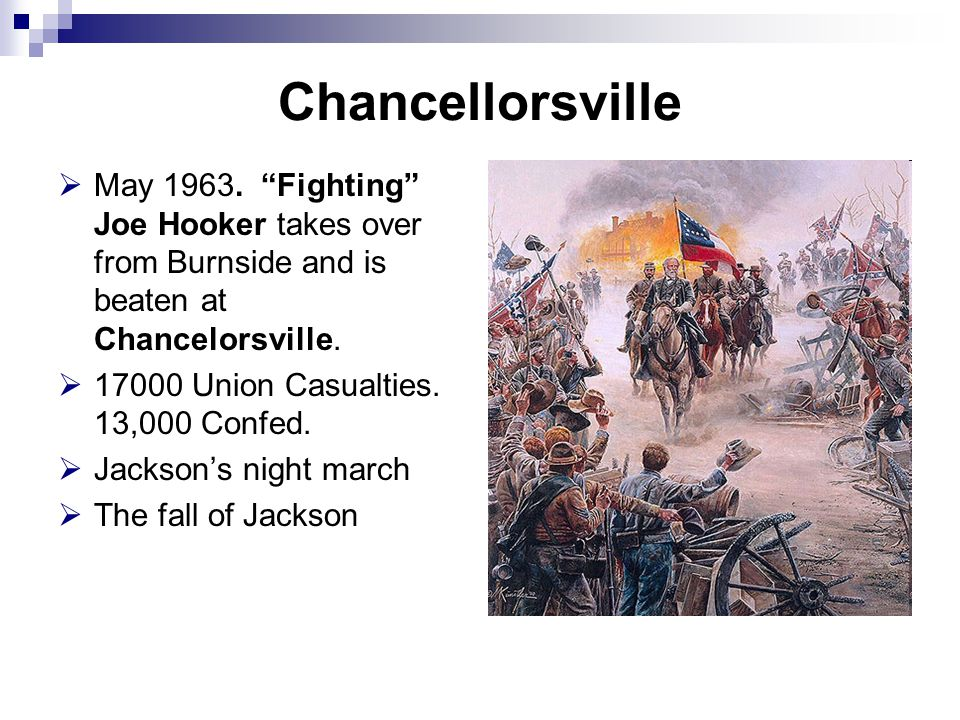 Chancellorsville  May 1963.