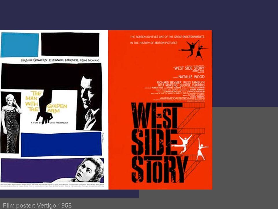 Film poster: Vertigo 1958 Saul Bass