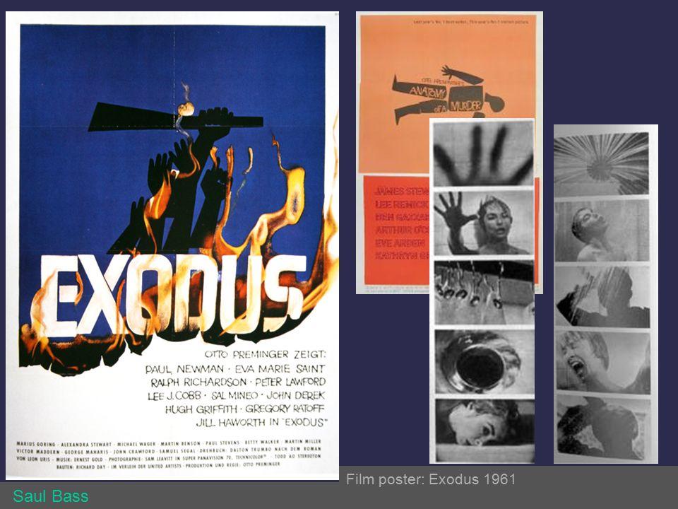 Identity Systems Film poster: Exodus 1961 Saul Bass