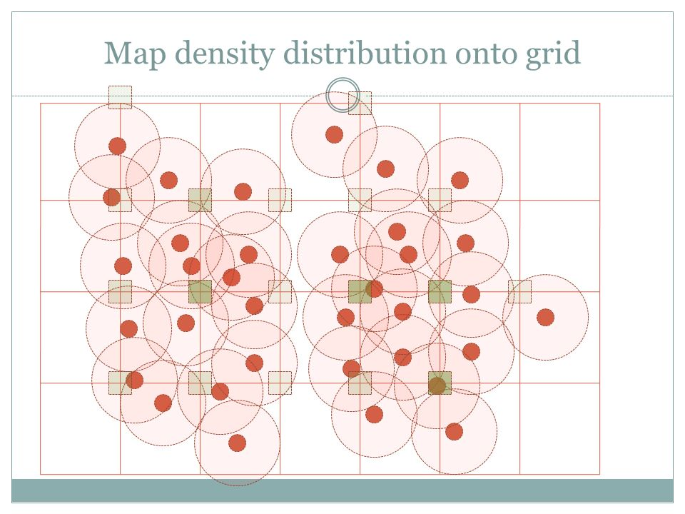Map density distribution onto grid