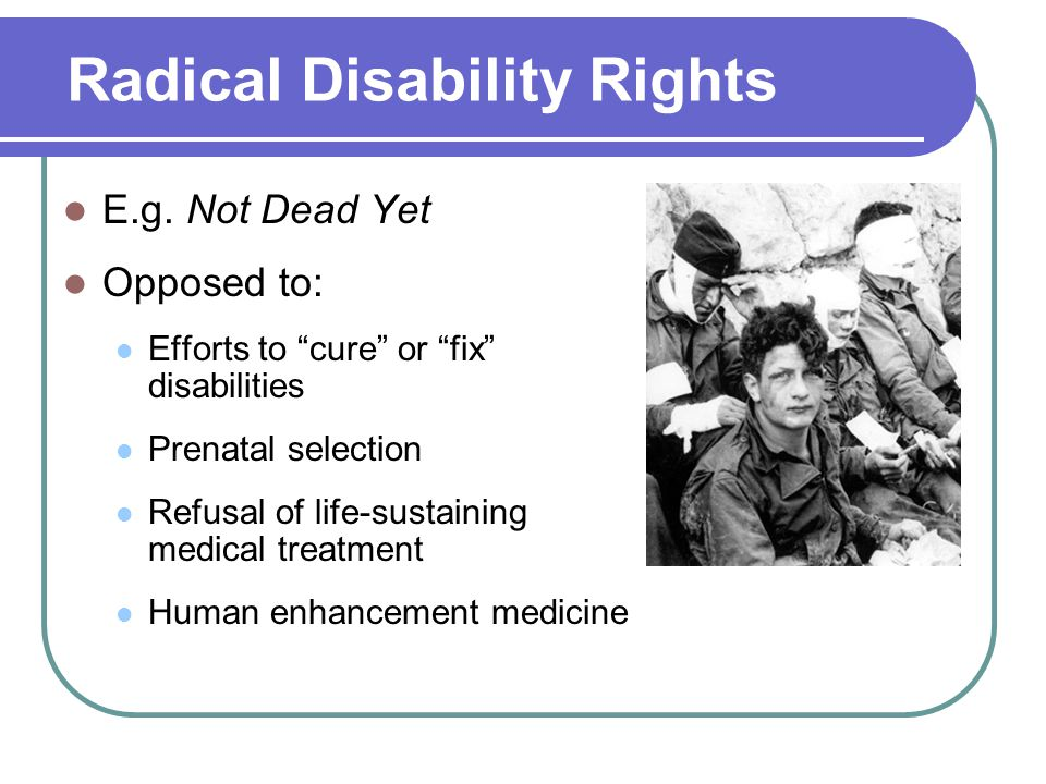 Radical Disability Rights E.g.