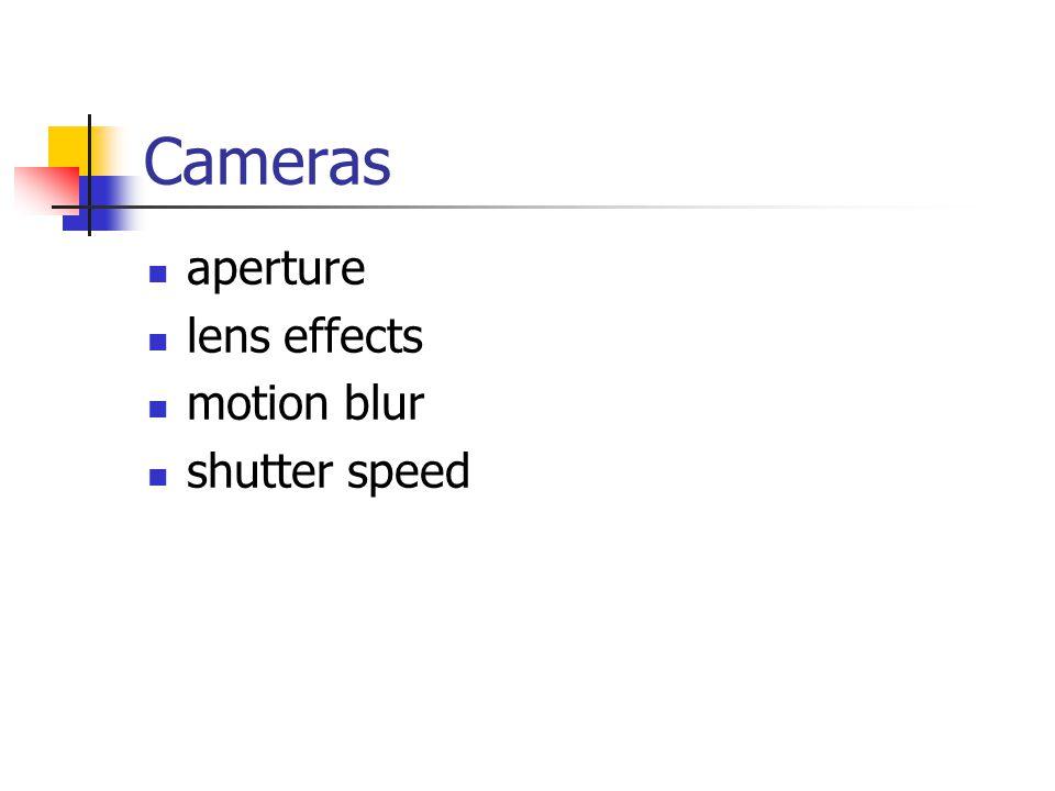 Cameras aperture lens effects motion blur shutter speed