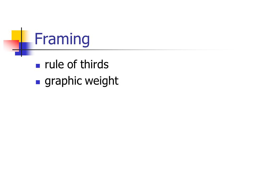 Framing rule of thirds graphic weight