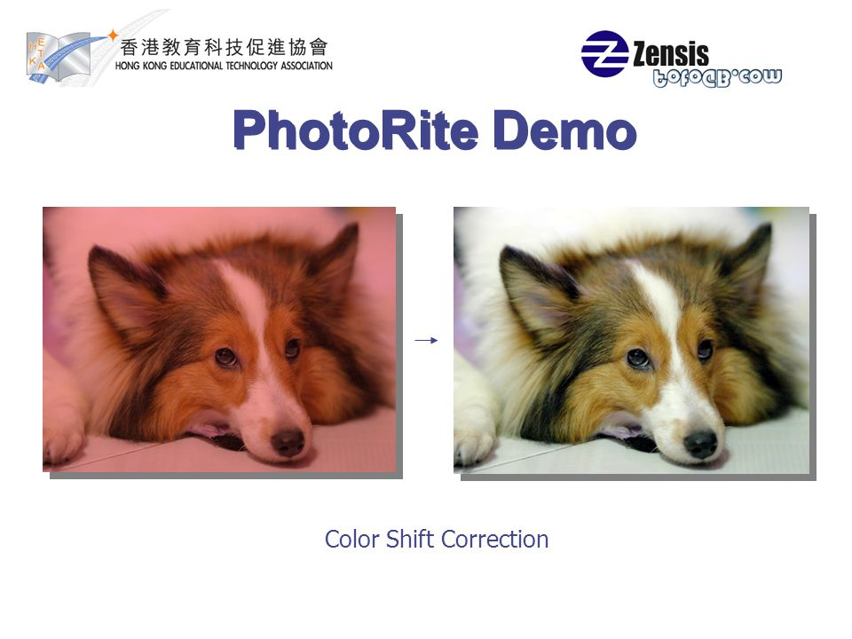 PhotoRite Demo Color Shift Correction