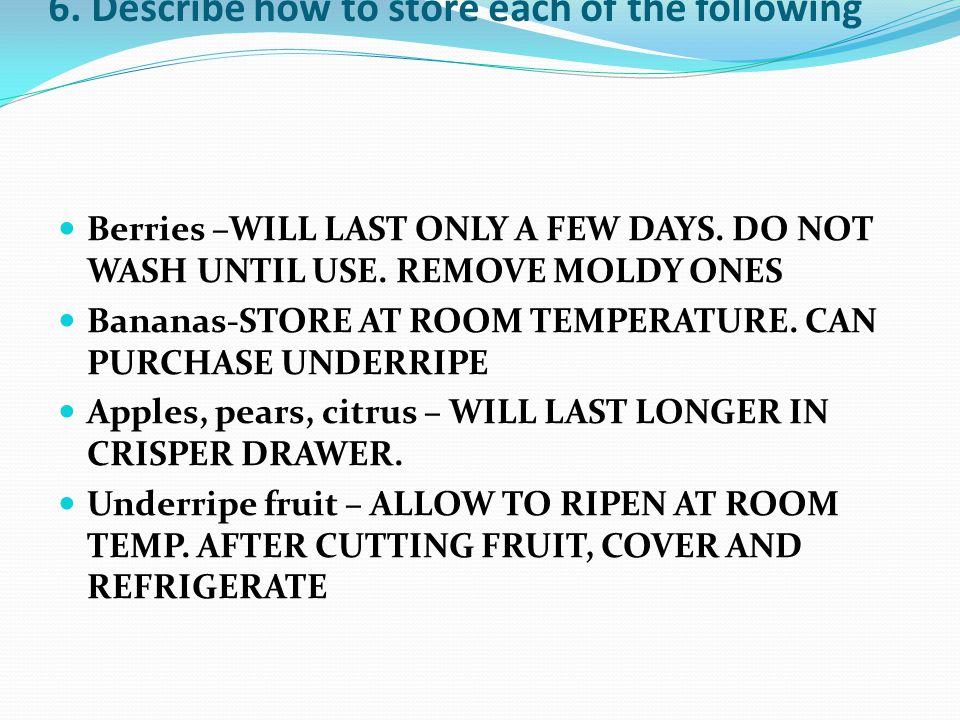 7.What changes occur when fruit ripen.