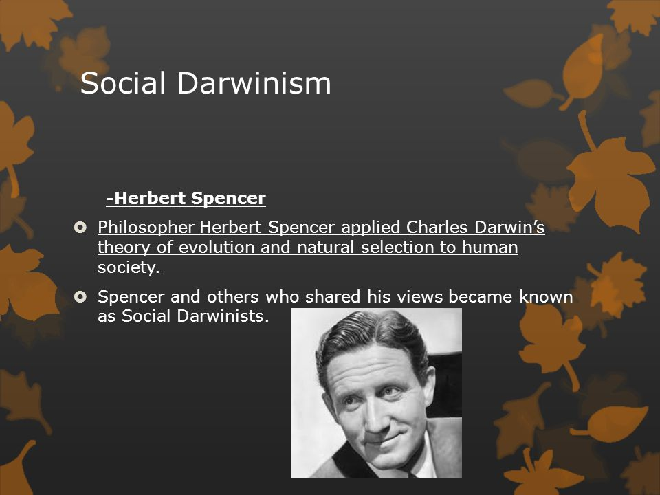 Social Darwinism -Carnegie's Gospel of Wealth  Andrew Carnegie, believing that those who profited from society owed it something in return, he attempted to extend and soften harsh philosophy.