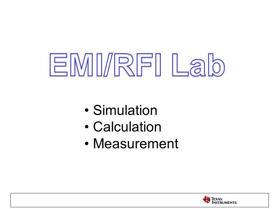 Simulation Calculation Measurement 19