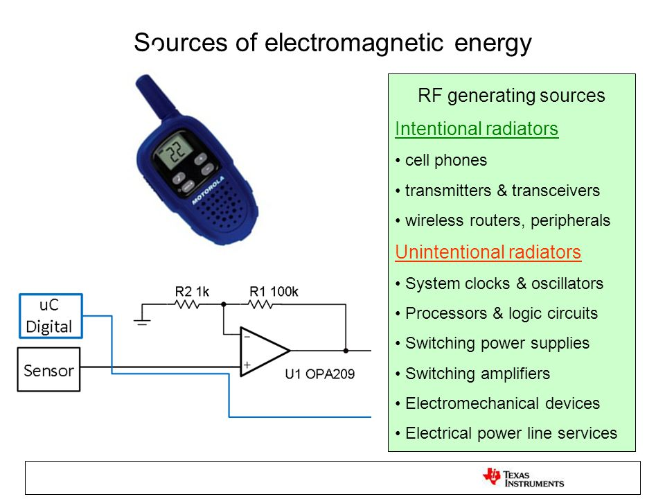 Taming the EMI environment Reduce receptor circuit's susceptibility to EMI (Filtering) Reduce the coupling medium's effectiveness (Shielding) Minimize EMI radiation from the source (Keep sensitive analog away from digital, soften digital edges)
