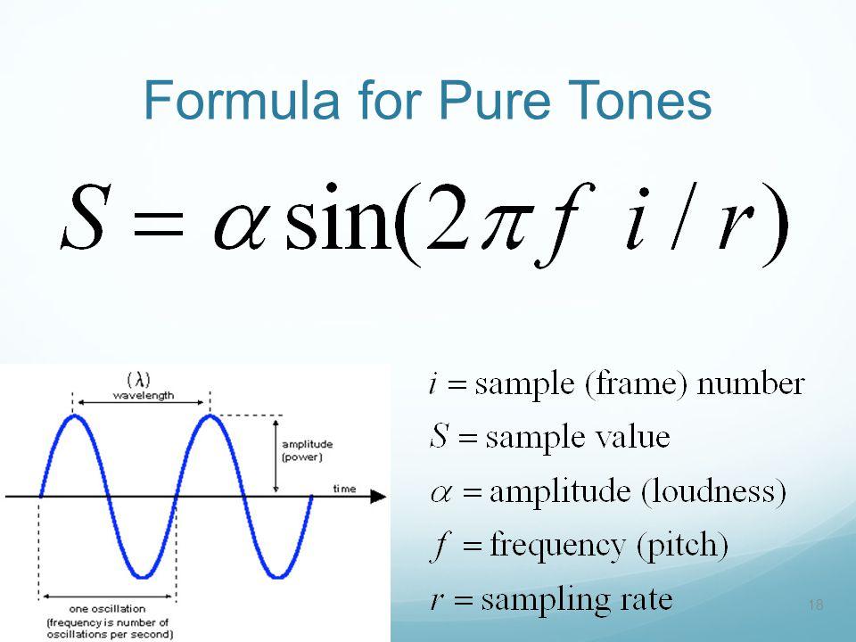Formula for Pure Tones 18