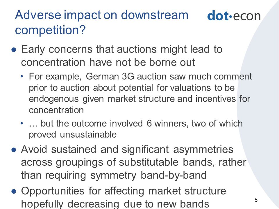 Adverse impact on downstream competition.