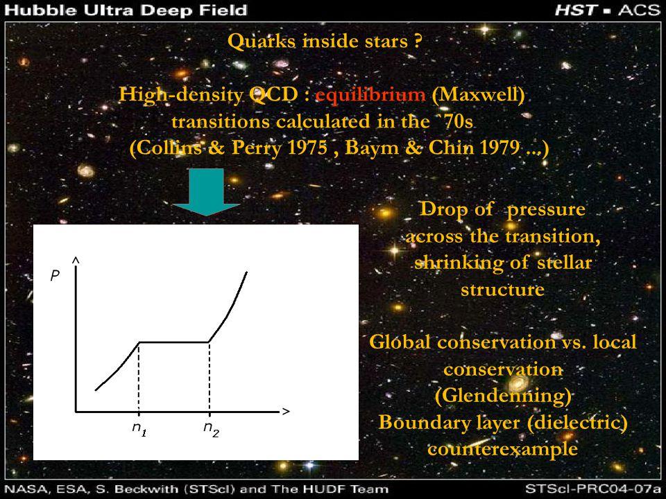 Quarks inside stars .