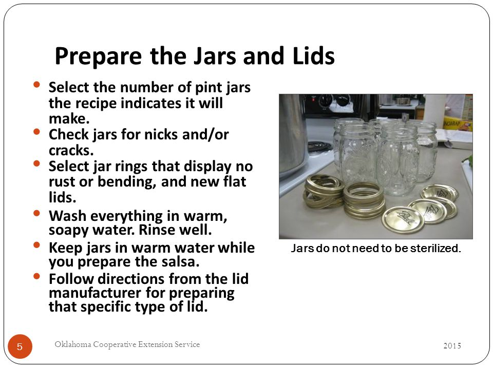 Prepare the Jars and Lids 5 Select the number of pint jars the recipe indicates it will make.