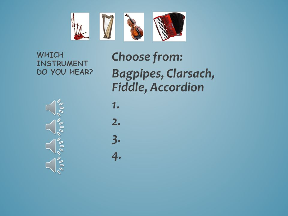 BAGPIPES CLARSACH FIDDLE ACCORDION Scottish instruments