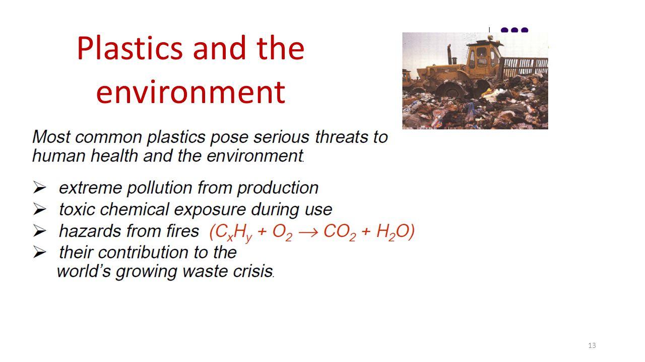 13 Plastics and the environment