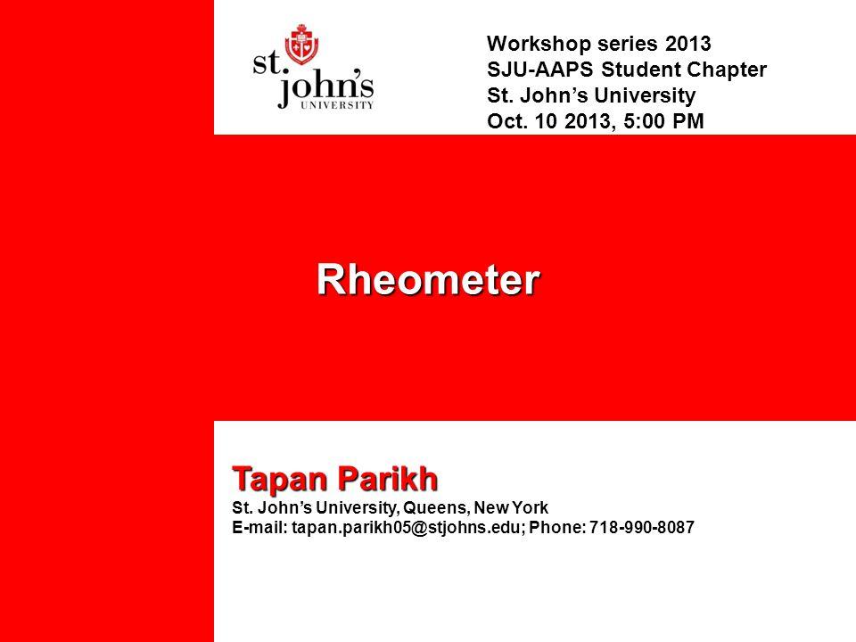 Workshop series 2013 SJU-AAPS Student Chapter St. John's University Oct.