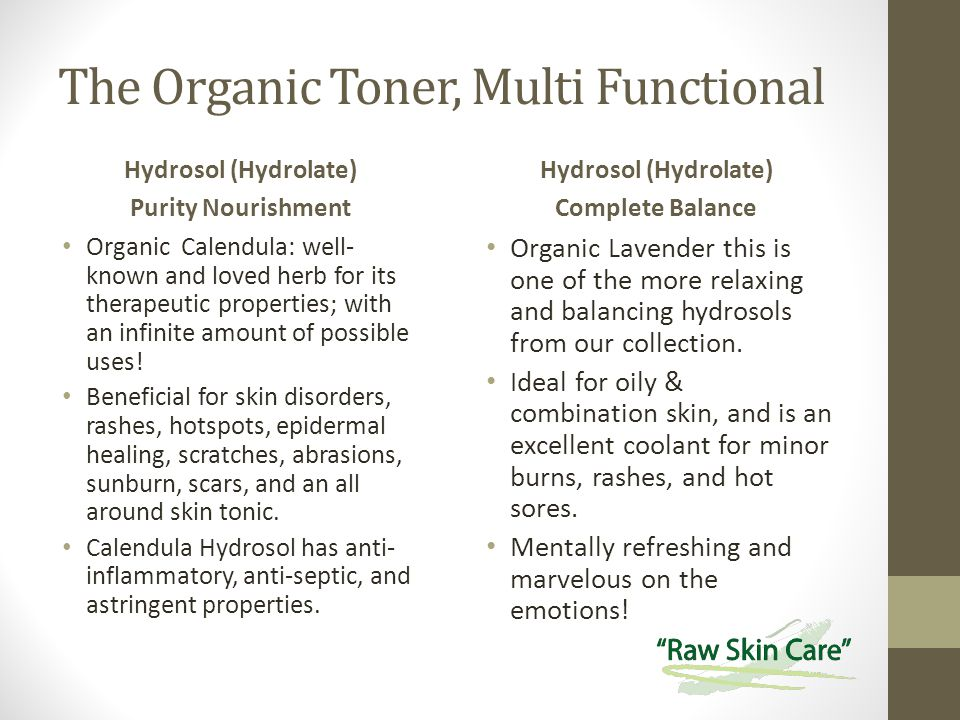The Organic Toner, Multi Functional Hydrosol (Hydrolate) Purity Nourishment Organic Calendula: well- known and loved herb for its therapeutic properties; with an infinite amount of possible uses.