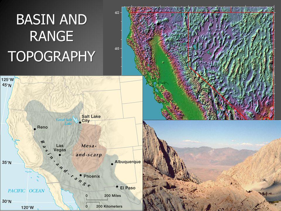 BASIN AND RANGE TOPOGRAPHY