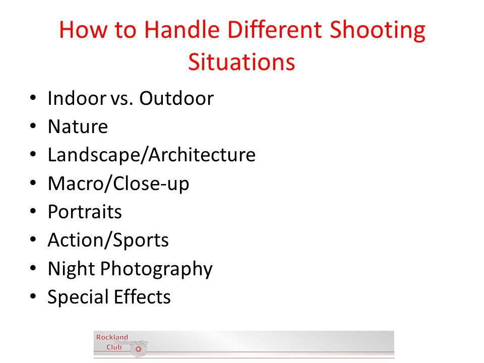 How to Handle Different Shooting Situations Indoor vs.