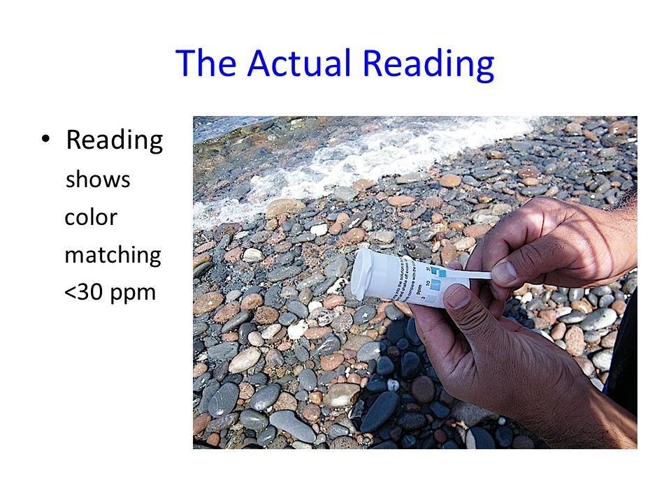 The Actual Reading Reading shows color matching <30 ppm