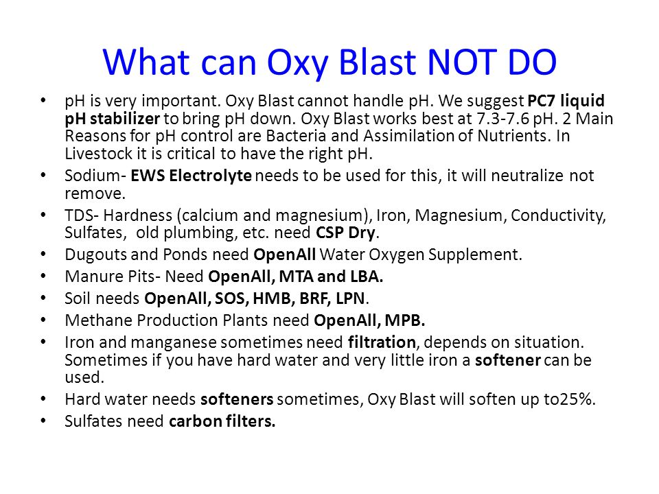 Installation of Oxy Blast Delivery Systems ~ some important stuff … Screens, etc.