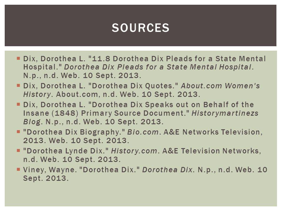  Dix, Dorothea L.