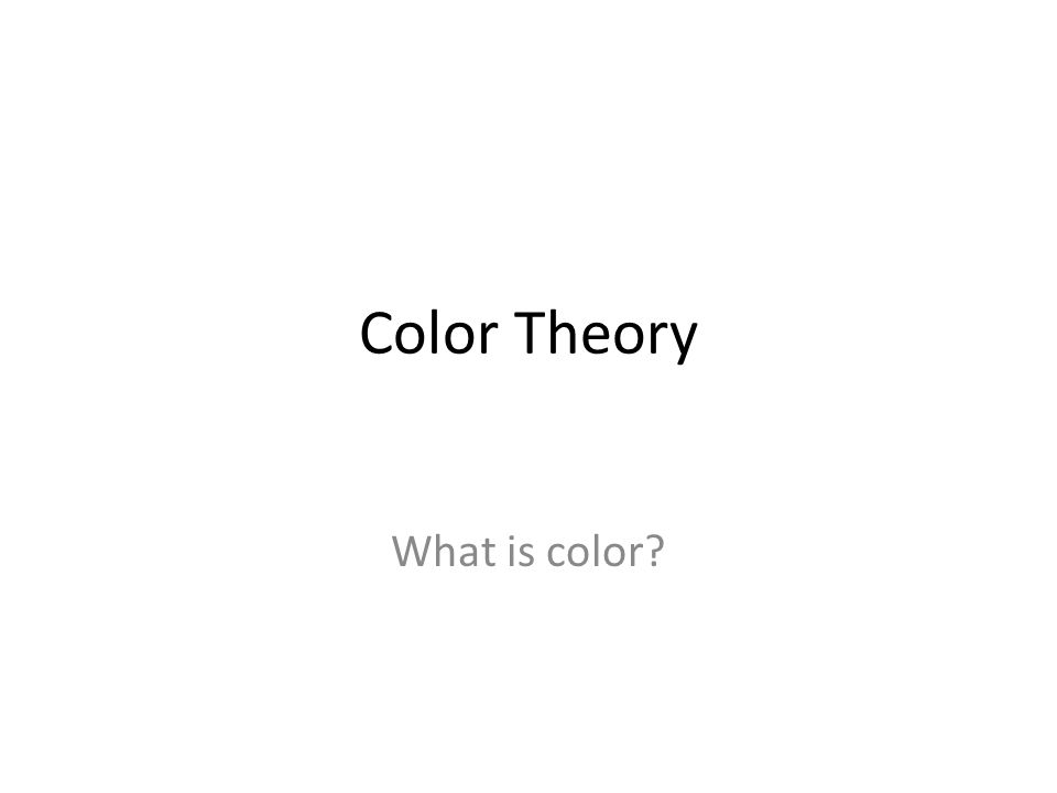 What is it? Color is the visual perception of the reflection of light.