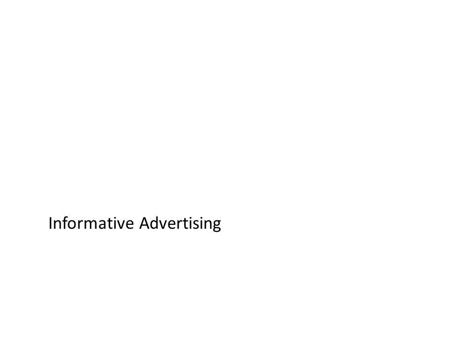 Informative Advertising