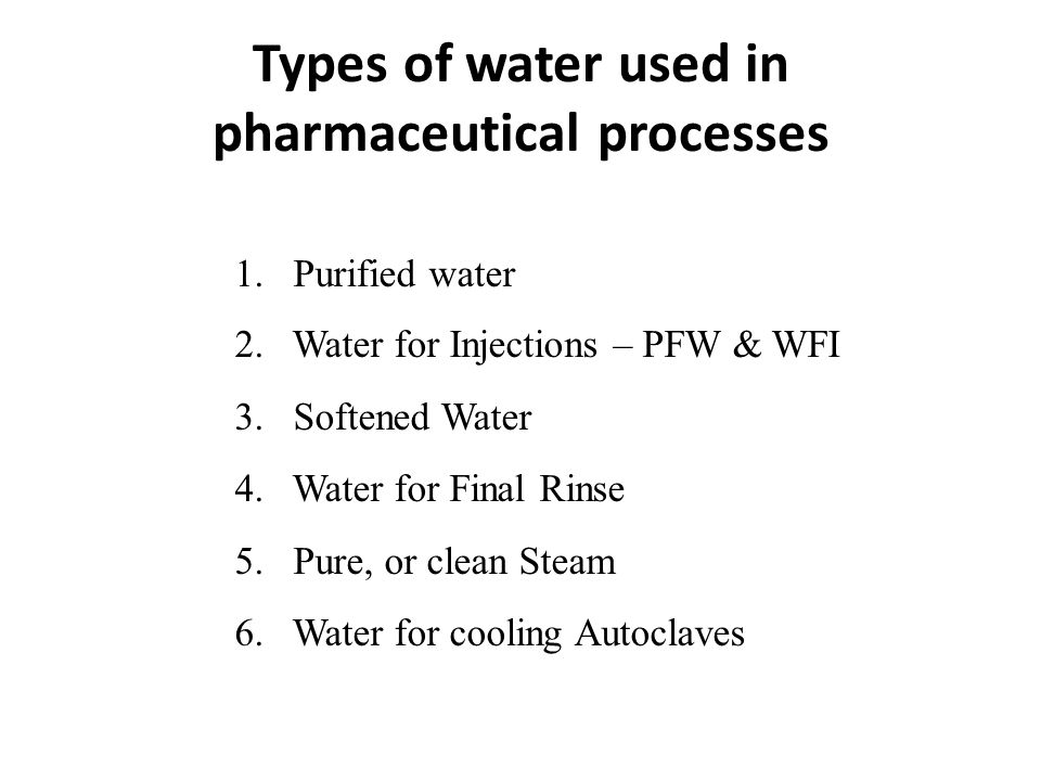 Why purify raw water.