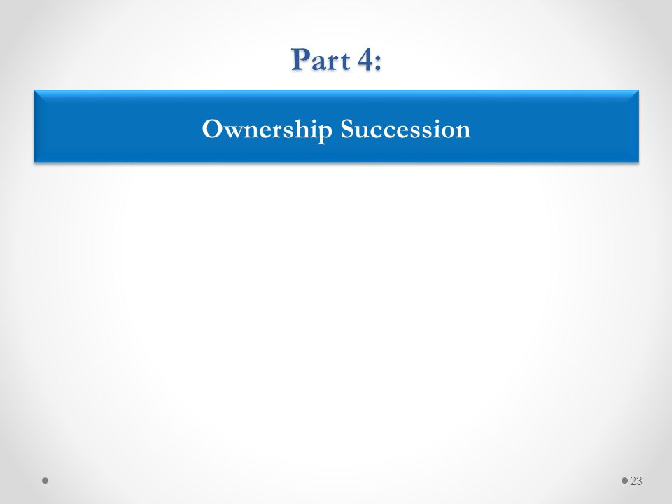 23 Ownership Succession Part 4: