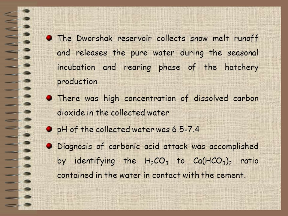 The Dworshak reservoir collects snow melt runoff and releases the pure water during the seasonal incubation and rearing phase of the hatchery producti