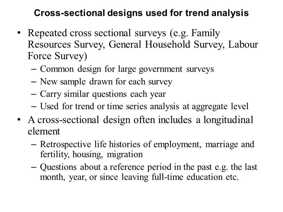 When do we need longitudinal data.