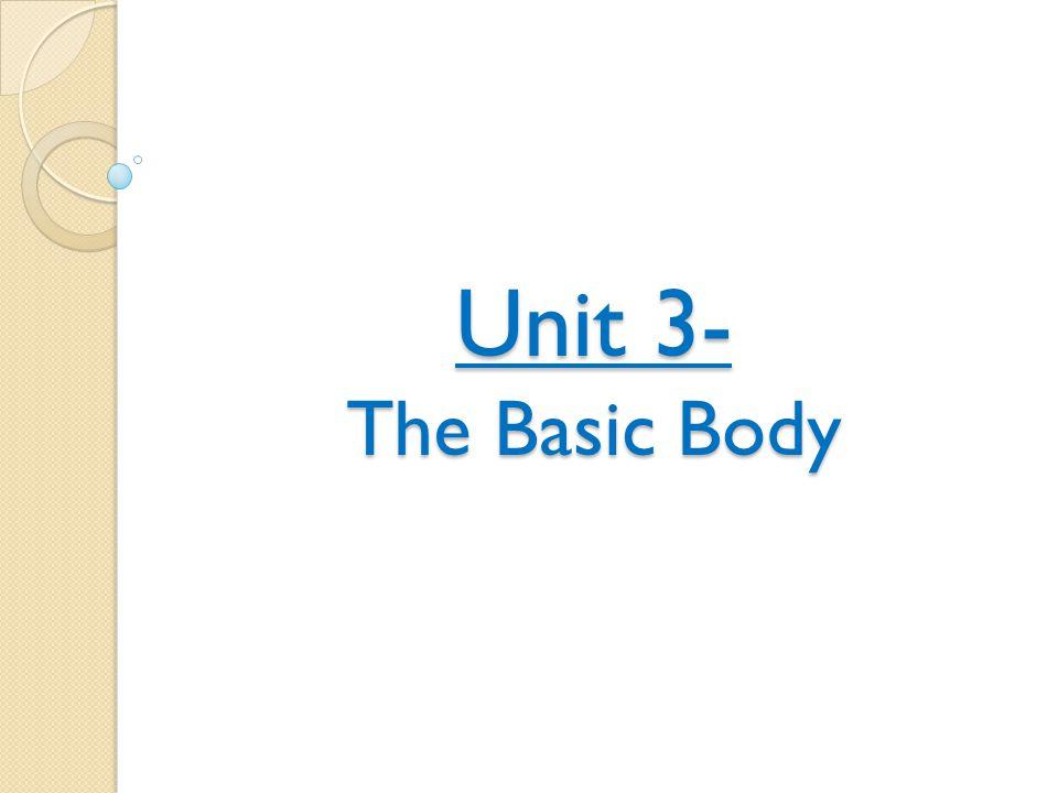 Unit 3- The Basic Body