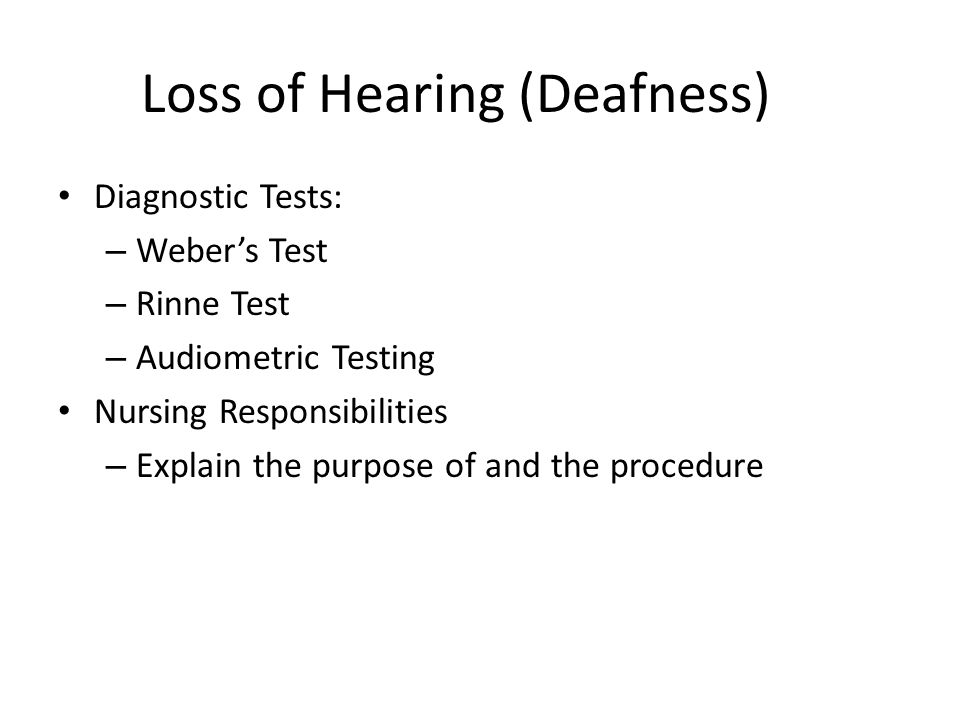 Loss of Hearing (Deafness) Medical management According to the type of impairment Hearing aids Surgical procedures – Cochlear implant