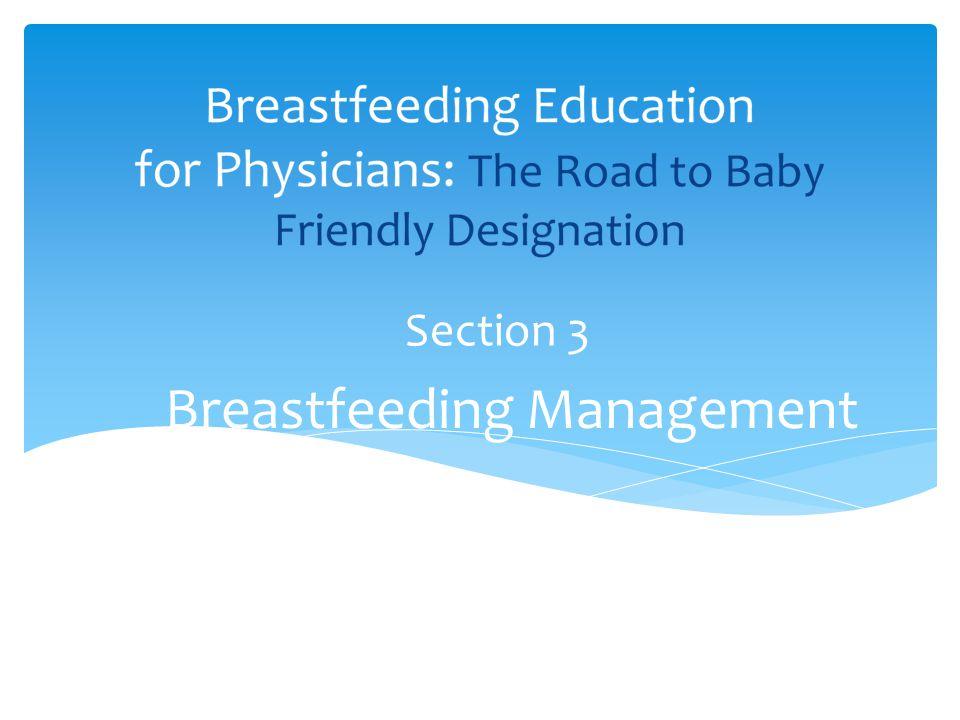 Breastfeeding Management Section 3