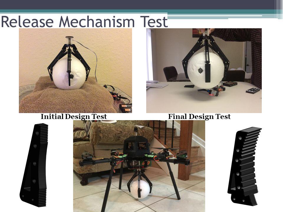 Release Mechanism Test Initial Design TestFinal Design Test