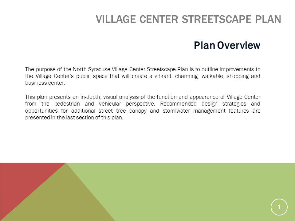 VILLAGE CENTER STREETSCAPE PLAN 1